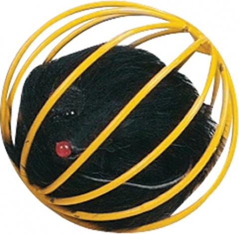 Hračka FLAMINGO loptička kovová s myšou