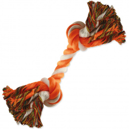 Uzol DF bavlneny oranzovo-biely 20cm,2knoty