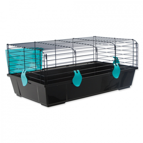 Klietka SMALL ANIMAL Michal čierna s modrou výbavou
