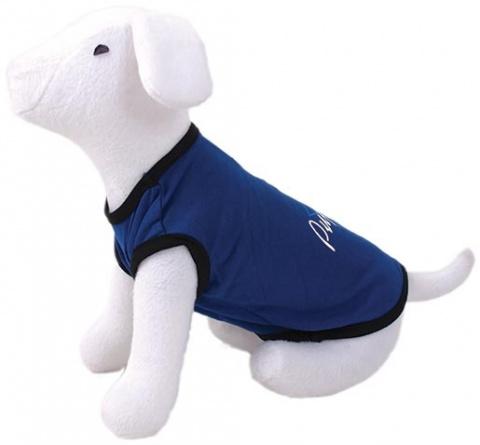 Tričko DOG FANTASY idol modré M/L