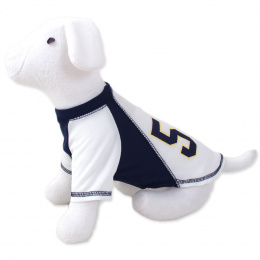 DOG FANTASY Tričko sport 57 M bielo-modré