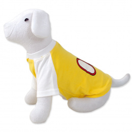 DOG FANTASY Tričko sport 08 M/L žlté