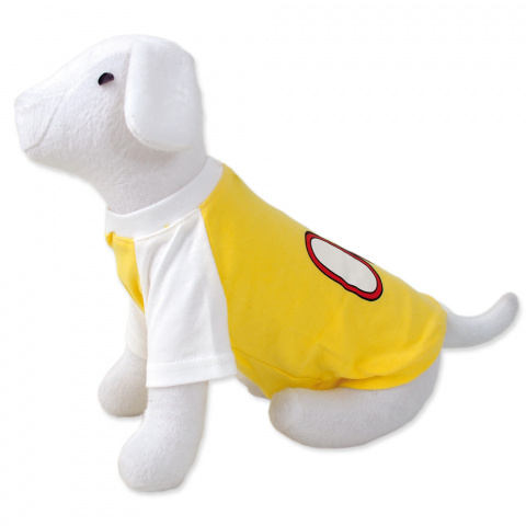 Tričko DOG FANTASY sport 08 žlté M/L