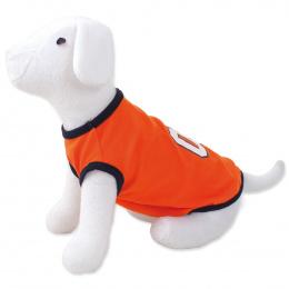 DOG FANTASY Tričko sport 01 XL oranžové