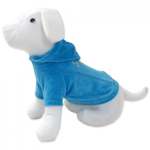 Tričko DOG FANTASY s kapucňou modré 40 cm title=