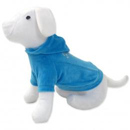 Tričko DOG FANTASY s kapucňou modré 40 cm