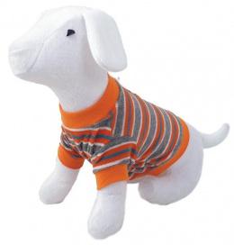Tričko DOG FANTASY s prúžkami oranžové M/L
