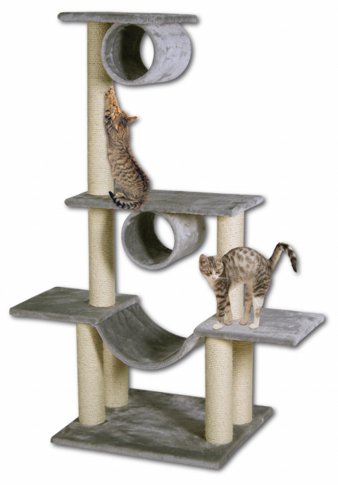 Magic Cat odpočívadlo Iveta 103x57x141 cm šedé title=