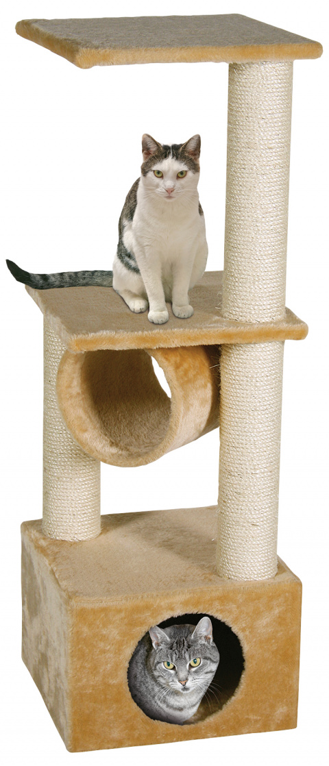 Magic Cat škrabadlo Tamara 35x35x103 cm béžové title=