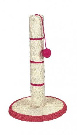 Skrabaci stlpik na platni z materialu sisal, s loptickou 50 cm