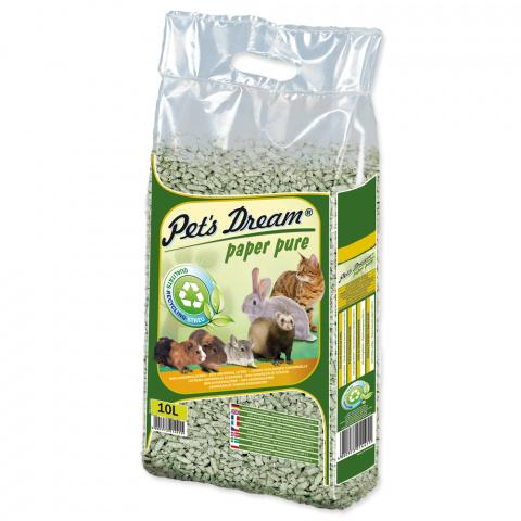 Pet´s Dream podstielka papierová - Pelety Pets Dream Paper Pure 4,8 kg/ 10l title=