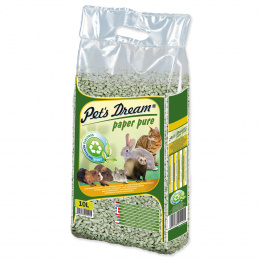 Pet´s Dream podstielka papierová - Pelety Pets Dream Paper Pure 4,8 kg/ 10l