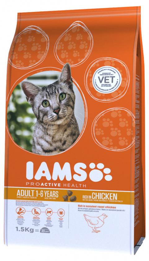 Iams Cat Adult rich in Chicken 1,5kg