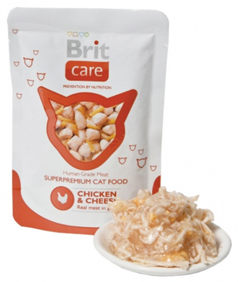 Brit Care Cat Chicken and Cheese Pouch 80 g