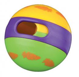 Hracka lopta s otvorom na krmenie plast 6cm