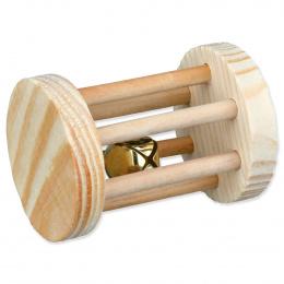 Trixie hračka kotúč na hranie pre hlodavce, drevený 5 x 7 cm