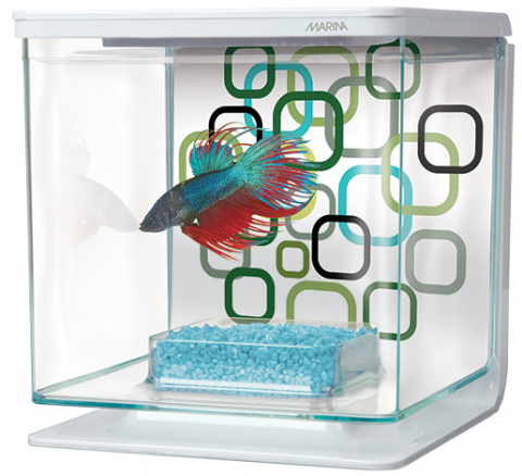 Akvarium Betta Marina Kit Geo Bubbles 2l