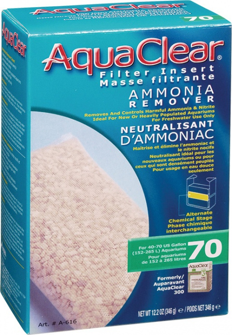 Náplň odstraňovač dusíkatých látok AQUA CLEAR 70 (AC 300) 346g