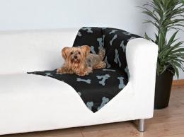 Trixie deka Beany čierna so šedými kostičkami 100*70 cm