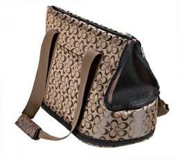 Taška prenosná pre psy Trixie Georgia 21x25x45cm bronzovo-čierna