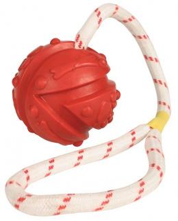 Hracka lopta so snurou, plavajuca 7 cm, 35 cm