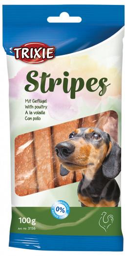 Stripes zuvacie tycinky s hydinou, light, 100g