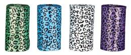 Sacky na psie vykaly, vzor leopard-rozne farby, 4 rolky po 20 ks