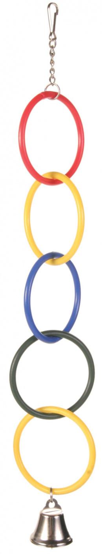 Olympijske kruzky s retazou a zvoncekom, 4.5 cm