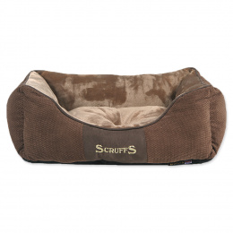 Scruffs Chester Box Bed S 50x40cm cokoladovy