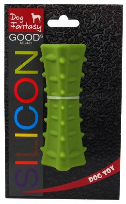 Hračka DOG FANTASY silikónový hranol trojboký tmavo zelený