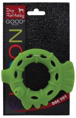 Hračka DOG FANTASY silikónový krúžok svetlo zelený