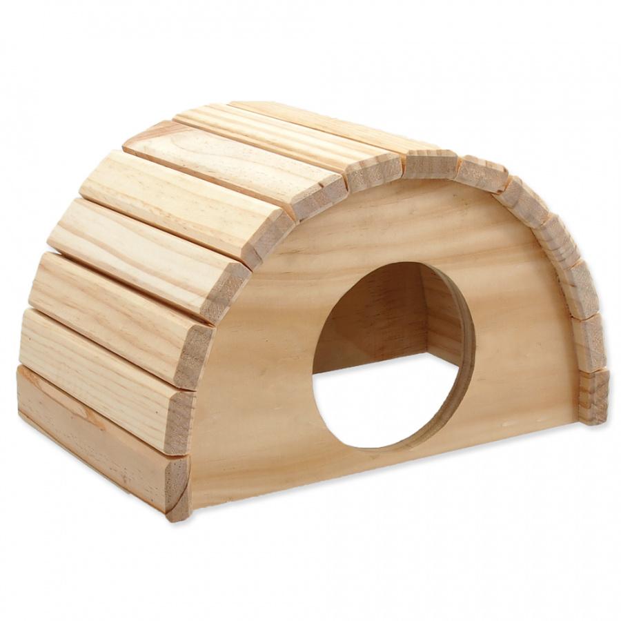 Small Animals domček polkruh drevený 24 x 17 x 15 cm