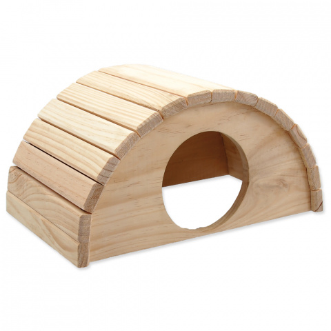 Small Animals domček polkruh drevený 31 x 20 x 15,5 cm title=
