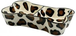 Dvojmiska DF keramicka tvar kost 25x14,5x5,5cm