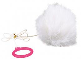 Hracka kozusinova lopta na gumicke, 7 cm