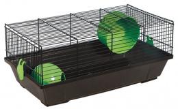 Klietka pre m. hlodavce cierna, vybava zelena 50,5*28*21cm