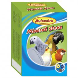 Kameň minerálny AVICENTRA s drvenými mušľami pre papagáje 170 g