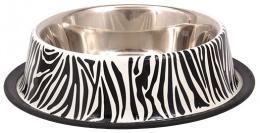 Miska DF nerez s gumou zebra 0,9l 25cm