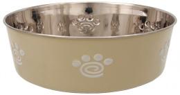 Miska Dog Fantasy nerez s gum. spodkom labka béžová 2,5l 23cm