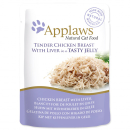 Kapsicka Applaws Cat chicken with liver in jelly 70g