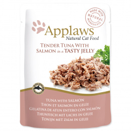 Kapsicka Applaws Cat tuna wholemeat with salmon in jelly 70g