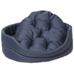 Pelech Dog Fantasy ovál s vankúšikom tmavo modrý 100 cm