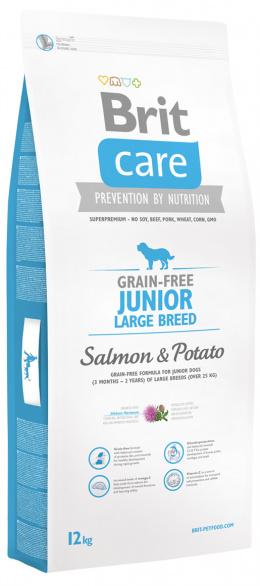 Brit Care Grain-free Junior Large Breed Salmon a Potato 12 kg