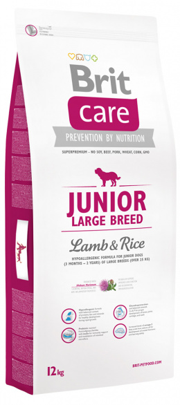 Brit Care Junior Large Breed Lamb a Rice 12 kg