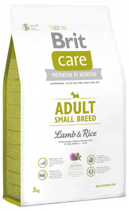 Brit Care Adult Small Breed Lamb a Rice 3 kg