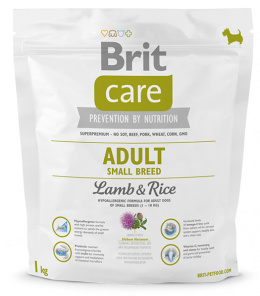 Brit Care Adult Small Breed Lamb a Rice 1 kg