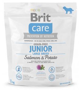 Brit Care Grain-free Junior Large Breed Salmon a Potato 1 kg