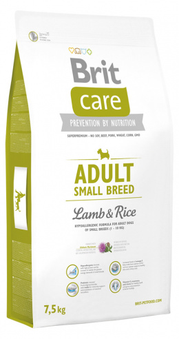 Brit Care Adult Small Breed Lamb a Rice 7,5 kg