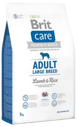 Brit Care Adult Large Breed Lamb a Rice 3 kg