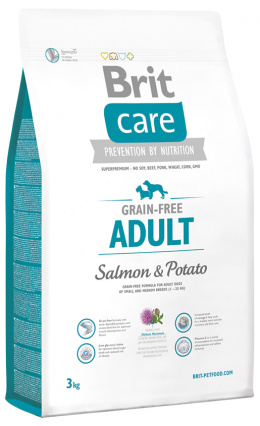 Brit Care Grain-free Adult Salmon a Potato 3 kg